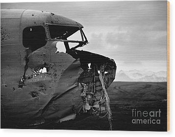 Wood Print featuring the photograph Dc 3 Iceland by Gunnar Orn Arnason