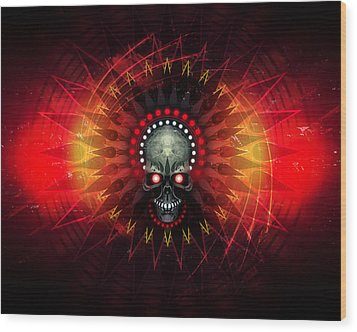 Deadstep - Hellfire Remix Wood Print by George Smith