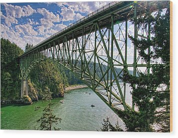 Deception Pass Wood Print