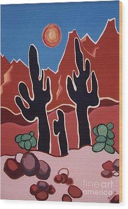 Desert Heat Wood Print by Joyce Gebauer