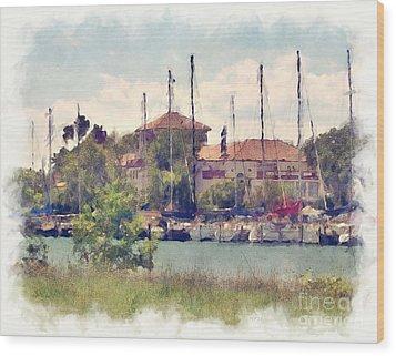 Detroit Yacht Club Wood Print by Phil Perkins
