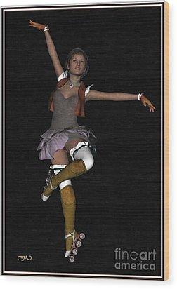 Ballet On Skates 1bos1 Wood Print by Pemaro