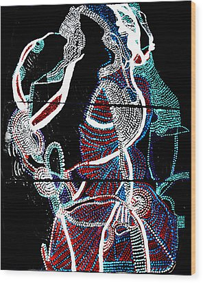 Wood Print featuring the painting Dinka by Gloria Ssali