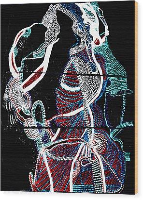 Dinka Wood Print by Gloria Ssali
