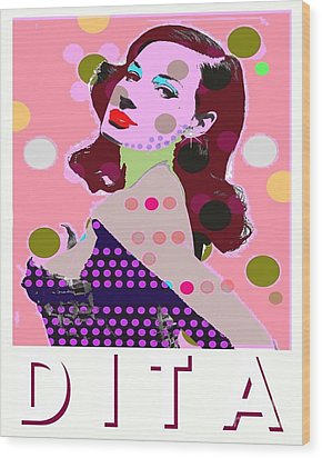 Dita Wood Print by Ricky Sencion