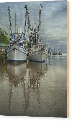 Docked Wood Print by Priscilla Burgers