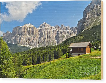 Dolomiti - High Fassa Valley Wood Print