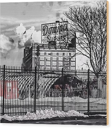 Domino Sugars Wood Print