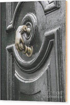 Wood Print featuring the photograph Door Knocker by Arlene Carmel