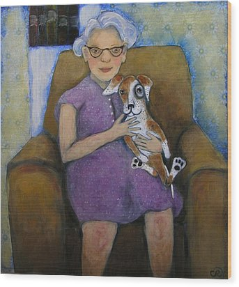 Doris And Maisie Wood Print by Cindy Riccardelli