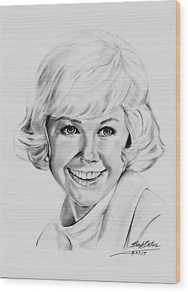 Doris Day Wood Print