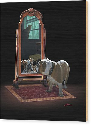 Double Trouble Wood Print by Harold Shull