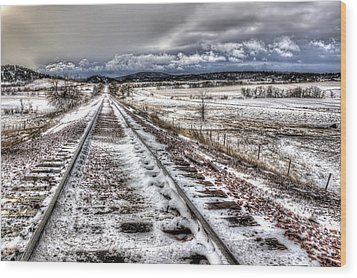 Down The Tracks Wood Print by Michele Richter