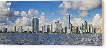 Downtown Miami  Wood Print by Eyzen M Kim