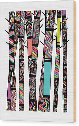 Dream Forest Wood Print by Susan Claire