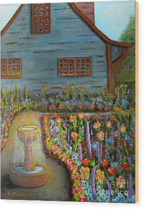 Dream Garden Wood Print by Laurie Morgan