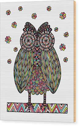 Dream Owl Wood Print by Susan Claire