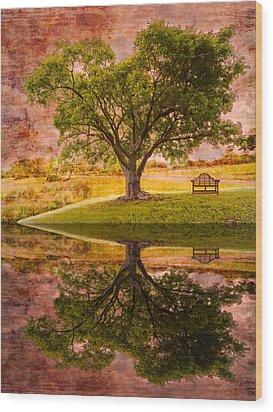 Dreaming Wood Print by Debra and Dave Vanderlaan