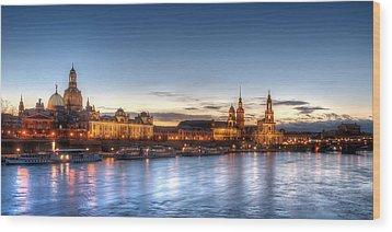 Dresden Skyline Wood Print by Steffen Gierok