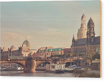 Dresden Wood Print by Steffen Gierok