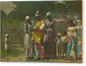 Dressing For The Carnival Wood Print by Winslow Homer