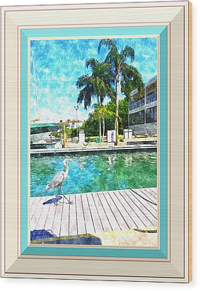 Dry Dock Bird Walk - Digitally Framed Wood Print