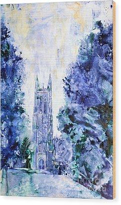 Duke Chapel Wood Print
