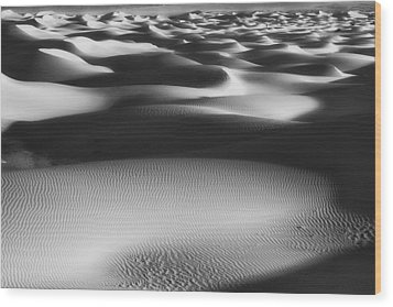 Dunes Death Valley Wood Print by Hugh Smith