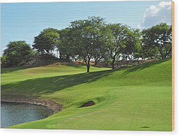 Dunes Of Maui Lani Golf Course  Wood Print by Kirsten Giving