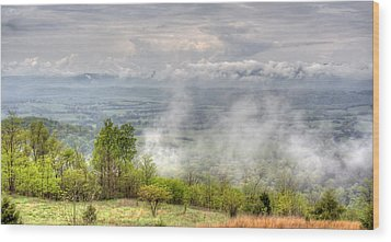 Dunlap Valley Wood Print by David Troxel
