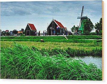 Wood Print featuring the photograph Dutch Village by Joe  Ng