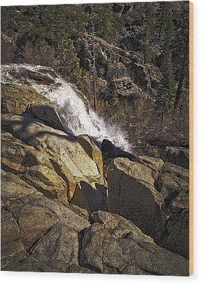 Wood Print featuring the photograph Eagle Falls by Nancy Marie Ricketts