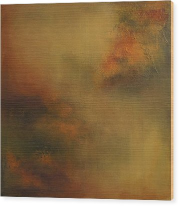 Wood Print featuring the painting Earth Tones by Debra Crank