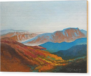 East Fall Blue Ridge Mountains 2 Wood Print