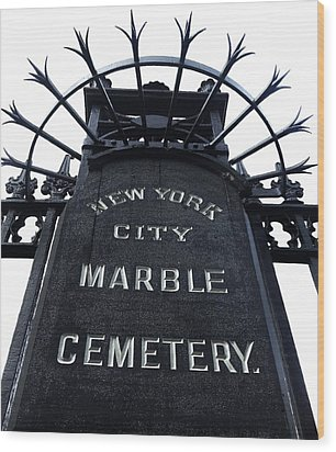East Village Cemetery Wood Print by Natasha Marco
