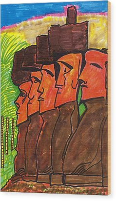 Easter Island Wood Print by Don Koester