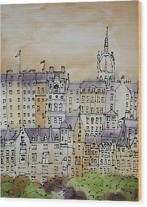 Edinburgh Scotland Wood Print