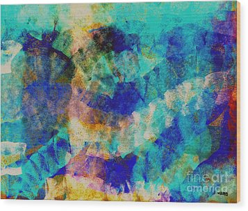 Electric Blue Wood Print by Julio Haro