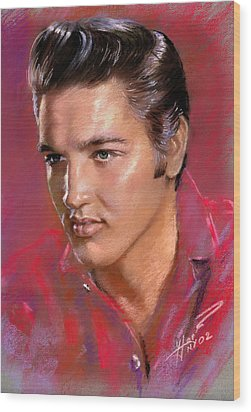Elvis Presley Wood Print by Viola El