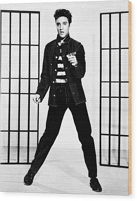 Elvis Presley Wood Print by Doc Braham
