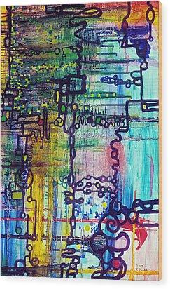 Emergent Order Wood Print by Regina Valluzzi