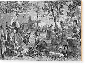 Emigrants Arkansas, 1874 Wood Print by Granger