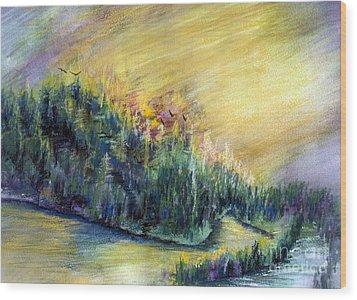 Enchanted Island Wood Print
