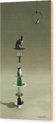 Equilibrium IIi Wood Print by Cynthia Decker