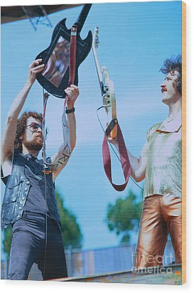 Eric Bloom And Buck Dharma Of Blue Oyster Cult At Day On The Green In Oakland Wood Print