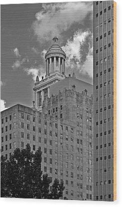 Esperson Buildings Houston Tx Wood Print by Christine Till