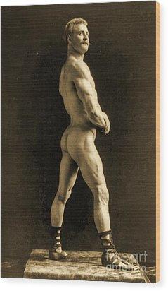 Eugen Sandow Wood Print by Napoleon Sarony