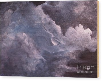 Evening Clouds Wood Print