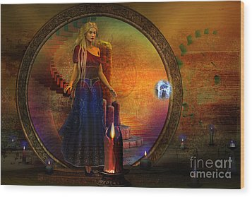Evermore Wood Print by Shadowlea Is