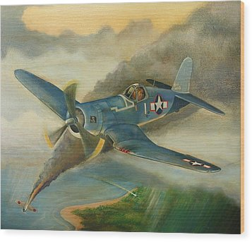 F4u Corsair Wood Print